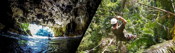 Cave Tubing & Ziplining